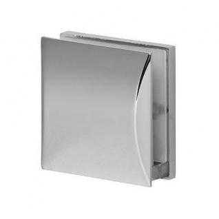 Chrom GLASHALTER 45x45mm FLACH 8mm 8, 38mm 8, 76mm Klemmhalter Glasklemme