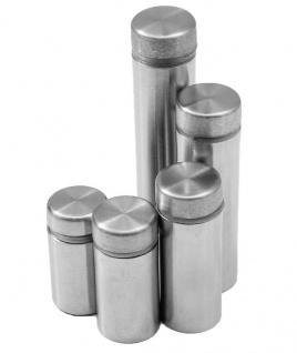 4x Ø 12mm Edelstahl Spiegelbefestigung Spiegelhalter Spiegel Halter Glashalter