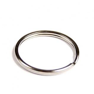 200 Schlüsselringe Außen Ø 25mm / Innen Ø 22mm Gehärteter Stahl Schlüsselring