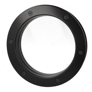 MLS Bullauge B4000 A8 Rundfenster Aluminium schwarz matt Ø 25 cm Glas klar 01... - Vorschau 4