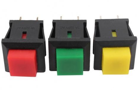 20x Mini Drucktaster Taster 1x EIN 11x13mm max. 125V 1A