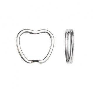 50 Design Apfel Apple Schlüsselringe Chrom Außen 32mm verchromt Schlüsselring