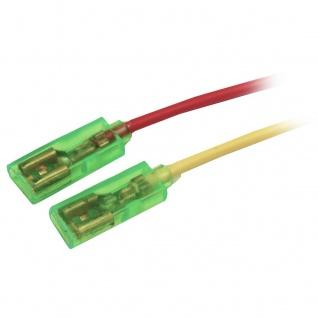 80x Kabel mit 6, 3mm Flachsteckhülse isoliert Kabelschuhe Kupfer Rot Gelb
