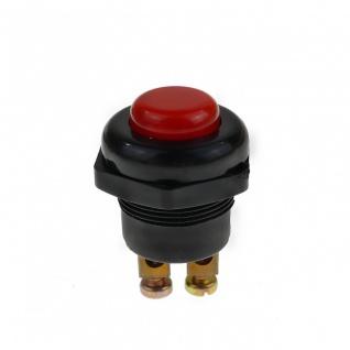 KFZ Drucktaster Rot 25A Druckknopf Taster Schalter Start Anlasser Hupe - Vorschau 5