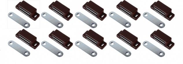 Magnetschnapper 10 Stück Braun Möbelmagnet Türmagnet Möbel Magnet Magnetversc...