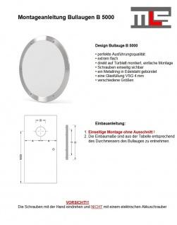 MLS Bullauge B5000 Rundfenster Edelstahl gebürstet Ø 35 cm Glas matt 0180-0192 - Vorschau 2