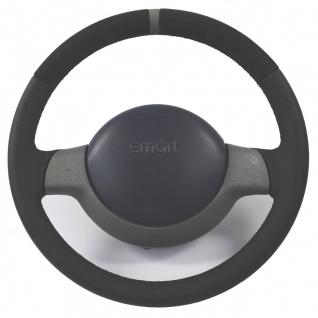Smart Lenkrad NEU BEZOGEN mit Alcantara und peforiertem Leder Ring auf 12 Uhr...