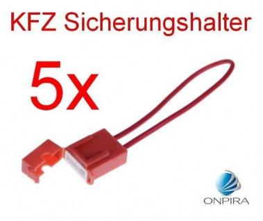 5 x KFZ Sicherungshalter Auto Sicherung aneinandersteckbar