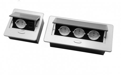 Tischsteckdose 1Fach / 3 FachFußbodensteckdose Bodensteckdose Wand Einbaustec...