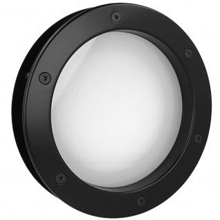 MLS Bullauge B4000 A8 Rundfenster Aluminium schwarz matt Ø 40 cm Glas matt 01...