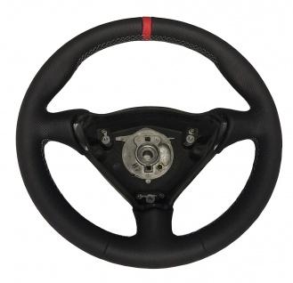 Porsche 996 Lenkrad neu beziehen Leder + Aufpolsterung + Ring 12 Uhr