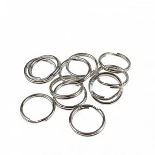 300 Schlüsselringe Außen Ø 15mm / Innen Ø 13mm gehärteter Stahl Schlüsselring
