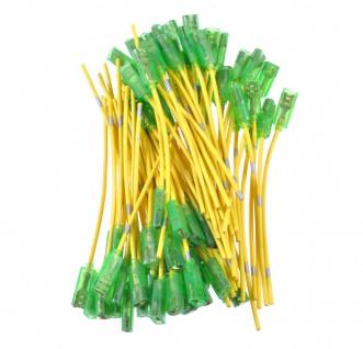 80x Kabel mit 6, 3mm Flachsteckhülse isoliert Kabelschuhe Kupfer Gelb