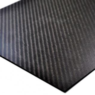 Echt Carbon Platte glatt 380 x 245 x 0, 75 mm Kohlefaser CFK Modellbau CNC