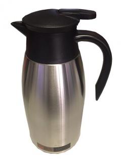 Edelstahl Thermoskanne schwarz 2, 0l Isolierkanne Isolierflasche
