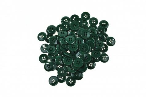 100x Kunststoff Knöpfe 15mm verschiedene Farben