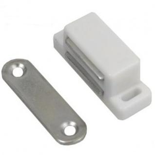 10x Magnetschnapper Weiss Möbelmagnet Türmagnet Möbel Magnet Magnetverschluss