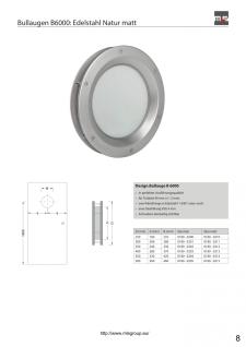 MLS Bullauge B6000 Rundfenster Aluminium Edelstahloptik Ø 40 cm Glas klar 018... - Vorschau 2