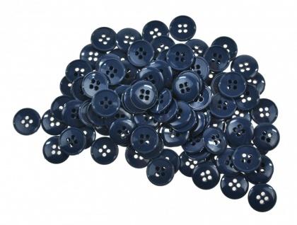 200x Kunststoff Knöpfe 15mm verschiedene Farben