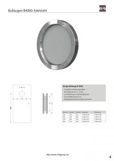 MLS Bullauge B4000 aus gebürstetem Edelstahl für Wandstärke 40 +/- 2 mm - Vorschau 4