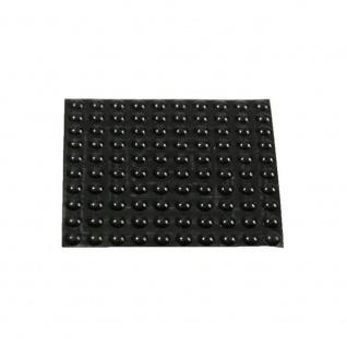 100 Geräte Gummi Füße Ø 10mm Höhe 3mm selbstklebend Gummifüße Gerätefüße - Vorschau 2
