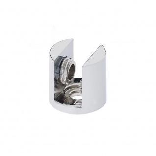 4x Chrom Glasplattenträger Glasbodenhalter Regalhalter Ø 21mm Vitrine 8mm 10mm