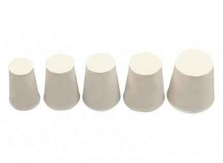 10x Gummistopfen Gummi Stopfen konisch Pfropf Verschluss Korken Silikon Weiß