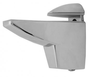 2x Große DESIGN Chrom Aluminium Regalhalter Regalträger Alu Regal