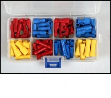 110 Flachsteckhülsen Stoßverbinder Sortiment vollisoliert Isoliert Kabelschuh