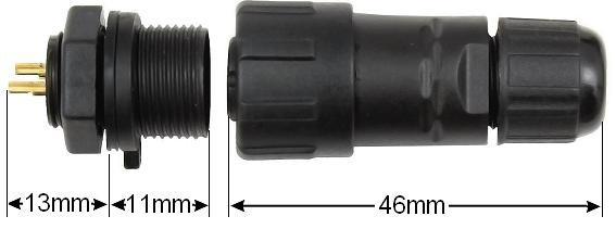 Einbau- Steckverbindung mehrpolig Stecker Kupplung - Vorschau 2