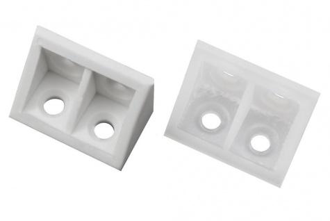 20x Kunststoffwinkel 20x20x33mm Stuhlwinkel Möbel Winkel Kunststoff Flachwinkel