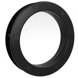 MLS Bullauge B4000 A8 Rundfenster Aluminium schwarz matt Ø 35 cm Glas klar 01...