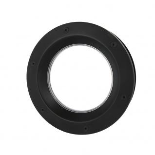 MLS Bullauge B6000 A8 Rundfenster Aluminium schwarz matt Ø 40 cm Glas klar 01...