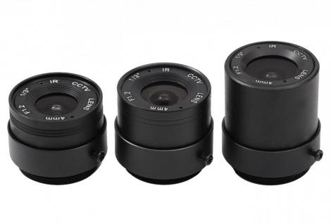 Echtglas CS-mount Objektiv für Überwachungskamera Minikameras Weitwinkel Zoom