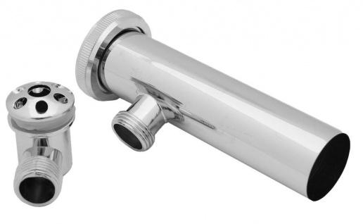 Design Waschbecken Spülbecken Überlauf mit Tauchrohr Ablauf Überlaufgarnitur