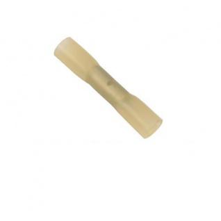 50 Stoßverbinder 4, 0 – 6, 0 mm² Gelb schrumpfbar Kabelschuhe Schrumpfverbinder