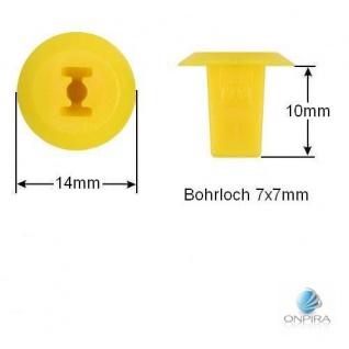 30x Clip Clips Clipse Kunststoff Spreizmutter Türverkleidung KFZ Universal 100