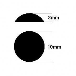 100 Geräte Gummi Füße Ø 10mm Höhe 3mm selbstklebend Gummifüße Gerätefüße - Vorschau 3