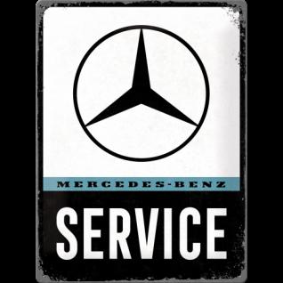 Blechschild 30x40 Mercedes-Benz - Service