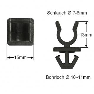 30x Clip Clips Clipse Benzinleitung Schlauch Kabelbaum KFZ LKW Universal 013 - Vorschau 2