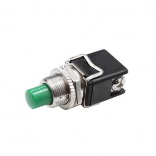 Hochstrom KFZ Drucktaster Grün 12A Druckknopf Taster Schalter Anlasser Hupe