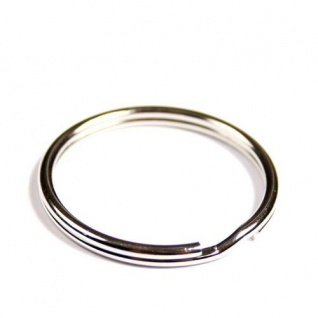 100 Schlüsselringe Außen Ø 30mm / Innen Ø 26mm Gehärteter Stahl Schlüsselring