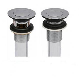 Waschbecken Abfluss Ablauf Ventil PopUp Ablaufgarnitur ohne und mit Überlauf