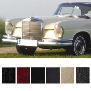 Mercedes W111 Coupe Hochkühler Teppich Velours dunkelgrau Keder Stoff schwarz...