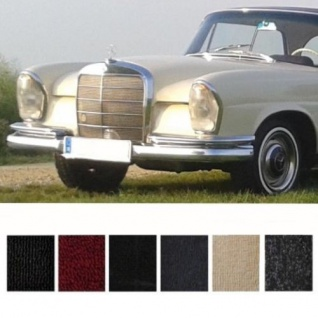 Mercedes W111 Coupe Hochkühler Teppich Velours rot Keder Stoff rot (H)
