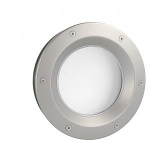 MLS Bullauge B6000 A6 Rundfenster Aluminium Edelstahloptik Ø 40 cm Glas matt ...