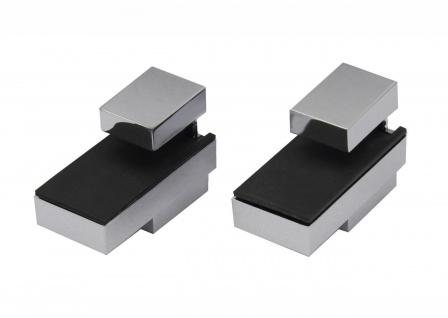 Regalhalter 2x DESIGN Chrom-Optik Regalträger bis 25 kg Regal Alu Aluminium
