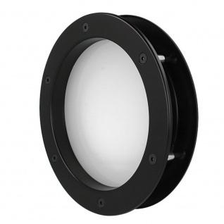 MLS Bullauge B4000 A8 Rundfenster Aluminium schwarz matt Ø 25 cm Glas matt 01... - Vorschau 5