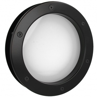 MLS Bullauge B4000 A8 Rundfenster Aluminium schwarz matt Ø 30 cm Glas matt 01...