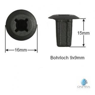 30x Clip Clips Clipse Kunststoff Spreizmutter Türverkleidung KFZ Universal 133
